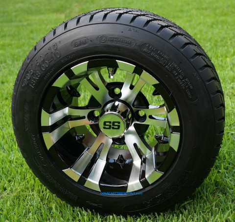 """17 Inch Low Profile Tires >> 10"""" VAMPIRE Golf Cart Wheels and 205/50-10 Low Profile DOT ..."""
