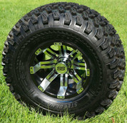 "10"" Tempest Golf Cart Wheels and 22x11-10 All Terrain Tires"