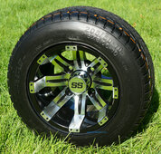 """10"""" TEMPEST Wheels and 205/50-10 DOT Tires"""