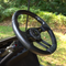 "EZGO 13"" Aviator-5 Carbon Fiber Golf Cart Steering Wheel w/ Black Aluminum Spokes"