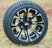 """12"""" HD3 Machined Wheels and 205/30-12 DOT Tires"""