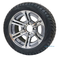 "12"" TERMINATOR Gunmetal Wheels and 215/40-12 DOT Tires"