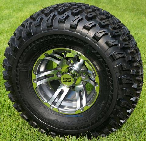 "10"" BULLDOG Gunmetal Wheels and 22x11-10 Tires"
