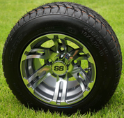 "10"" BULLDOG Gunmetal Wheels and 205/50-10 Street DOT Tires"