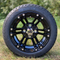 "12"" TERMINATOR Black Aluminum Wheels and 215/40-12 Low Profile DOT Tires"