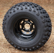 "10"" BLACK Steel Wheels and 22x11-10"" All Terrain Tires Combo"