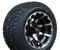 "STI HD6 Machined/ Black 10"" Wheels and Slasher GTX Pro 205/50-10 DOT Tires Combo - Set of 4"