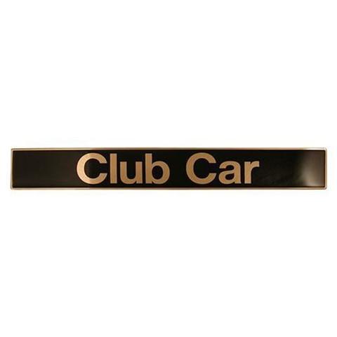 Club Car Precedent Name Plate / Front Emblem - Black & Gold (Fits 2004+)