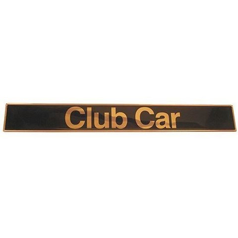 Club Car DS Name Plate / Front Emblem - Black & Gold (Fits 1982+)