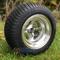 "10"" VIKING Machined Golf Cart Wheels and 205/50-10 DOT Tires - Set of 4"
