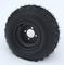 "RHOX RXAL 18x8-8 All Terrain Golf Cart Tires on 8"" Black Steel Golf Cart Wheels"