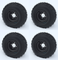 "RHOX 8"" Black Steel Golf Cart Wheels and 18x8-8 All Terrain Golf Cart Tires Combo - Set of 4"