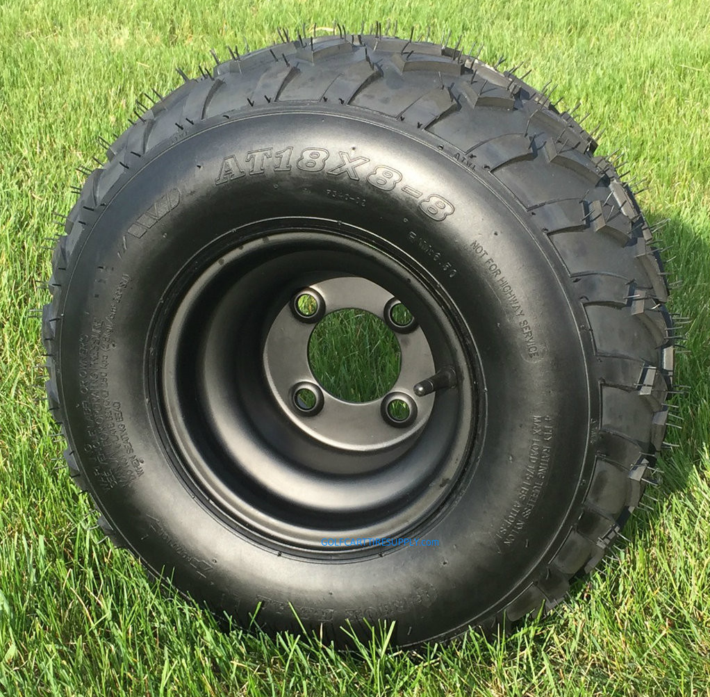 Rhox Rxal 18x8 8 All Terrain Golf Cart Tires And 8 Black Steel
