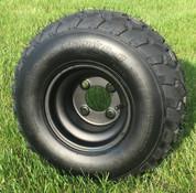 "RHOX 8"" Black Steel Golf Cart Wheels and 18x8-8 All Terrain Golf Cart Tires Combo - Set of 4"