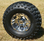 "10"" VAMPIRE Gunmetal Wheels and 22x11-10"" All Terrain Tires"
