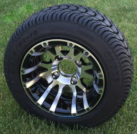 "10"" VENOM Machined Wheels and 205/50-10 Low Profile DOT Tires Combo"