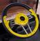 "Club Car DS Steering Wheel 13"" Aviator4 Yellow Grip w/ Black Spokes"