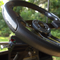 "Club Car DS 13"" Aviator-5 Carbon Fiber Golf Cart Steering Wheel w/ Black Aluminum Spokes"