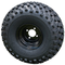 "8"" Black Steel Wheels and 22x11-8"" All Terrain Tires - Set of 4"