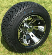 "10"" RUCKUS Machined Wheels and 205/50-10 Low Profile DOT Tires Combo"
