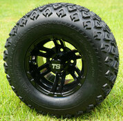 "10"" BULLDOG Black Wheels and 20x10-10 DOT All Terrain Tires"