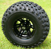 "10"" BULLDOG Black Aluminum Wheels and 22x11-10 All Terrain Tires"