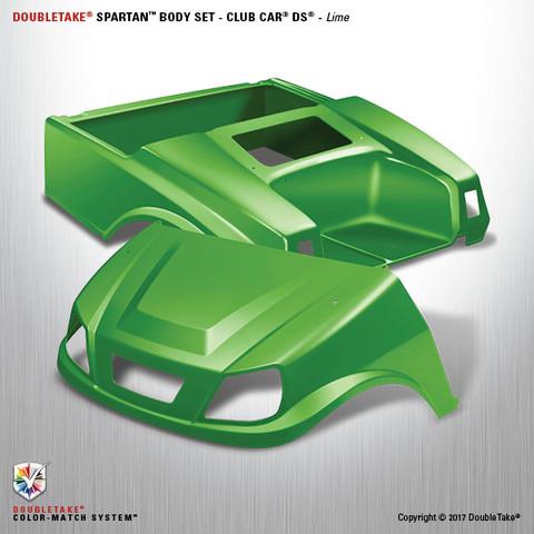 Club Car DS SPARTAN Body Kit - Lime Green
