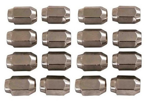16 Pack of CHROME Metric 10mm x 1.25 Threaded Lug Nuts (for GEM Car)