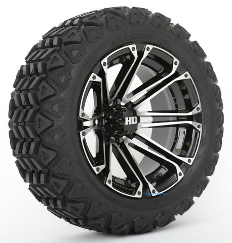 "HD3 Machined/ Black 14"" Wheels and Slasher GTX All Trail 23x10-14"" DOT Tires"
