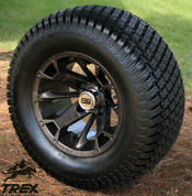 "12"" BLACKJACK Metallic Bronze Wheels and 23""x10.5-12 TURF Tires Combo"