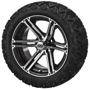 "15"" TERMINATOR Machined/ Black Wheels and 205/35R-15"" Low Profile DOT Tires Combo - Set of 4"