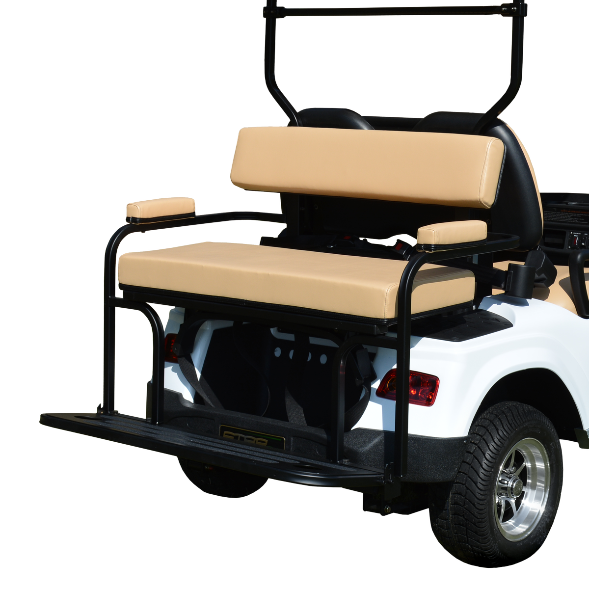 star cart 2 in 1 combo golf cart rear seat kit and bag holder | golf cart  tire supply