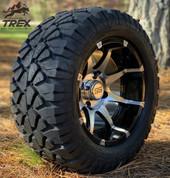 "12"" BANSHEE Machined/ Black Aluminum Wheels and 20x10-12"" STINGER All Terrain Tires - Set of 4"