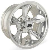 """12"""" GODFATHER Polished Aluminum Golf Cart Wheels - Set of 4"""