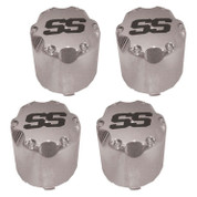 "Chrome ""SS"" Snap In Center Cap 2.65"" - Set of 4"