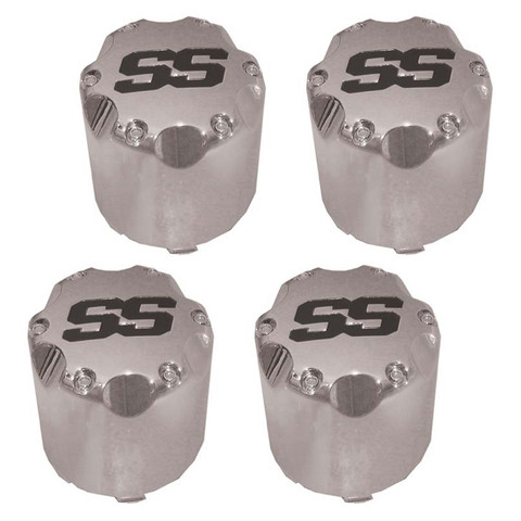 """Chrome """"SS"""" Snap In Center Cap 2.65"""" - Set of 4"""
