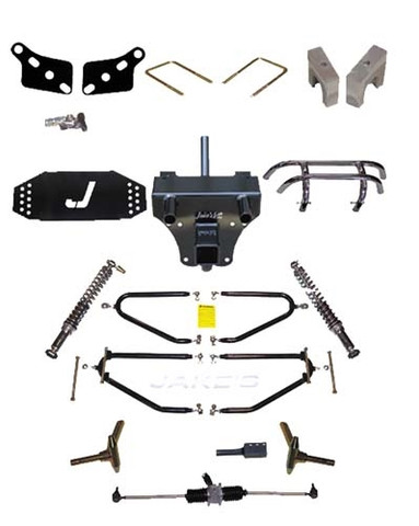 """JAKES 4""""- 8"""" Adjustable Heigh Long Travel Lift Kit for Club Car DS 1981-2003 (Gas & Electric)"""