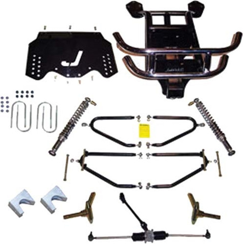 "JAKES 4""- 8"" Adjustable Heigh Long Travel Lift Kit for EZGO TXT GAS 2009 & Up with Kawasaki Motor"