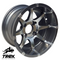 "12"" BANSHEE Gunmetal/ Machined Aluminum Wheels - Set of 4"