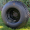18x8.50-8 STX OEM Golf Cart Tires and Black Steel Golf Cart Wheels Combo