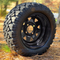 "12"" Black Steel Window Wheels and 20x10-12"" STINGER All Terrain Tires"