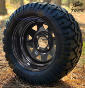 "12"" Black Steel Window Wheels and 22"" STINGER All Terrain Tires"