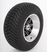 "12"" STI HD4 Machined/ Black Wheels and 23"" DOT Street Tires - Set of 4"