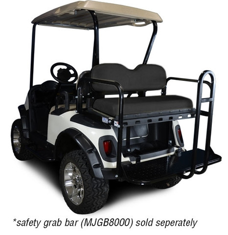 Madjax Golf Cart Rear Seat for EZGO TXT/ Medalist/ PDS/ RXV (Flip Seat w/ Cargo Bed)