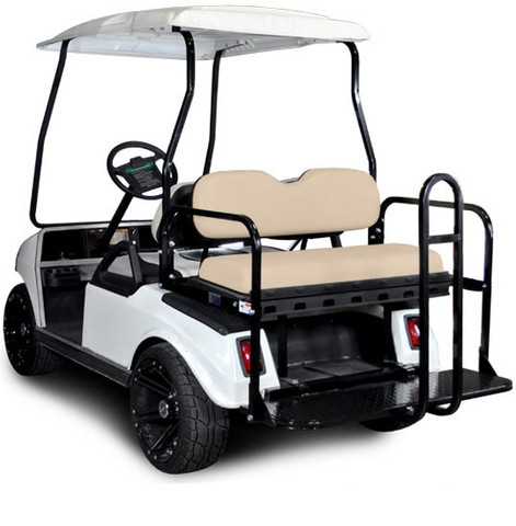 GTW Mach3 Golf Cart Rear Seat for Club Car DS / Precedent (Flip Seat w/ Cargo Bed)