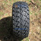 "14"" DOMINATOR Matte Black Wheels and 22x10-14"" TRAIL FOX DOT All Terrain Tires Combo - Set of 4"