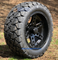 "14"" DOMINATOR Matte Black Wheels and 22x10-14"" TRAIL FOX DOT All Terrain Tires Combo - Set of 4"