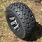 """10"""" TEMPEST Black/Machined Wheels and 22x10-10"""" TRAIL FOX DOT All Terrain Tires Combo - Set of 4"""