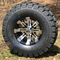 "10"" TEMPEST Black/Machined Wheels and 22x10-10"" TRAIL FOX DOT All Terrain Tires Combo - Set of 4"