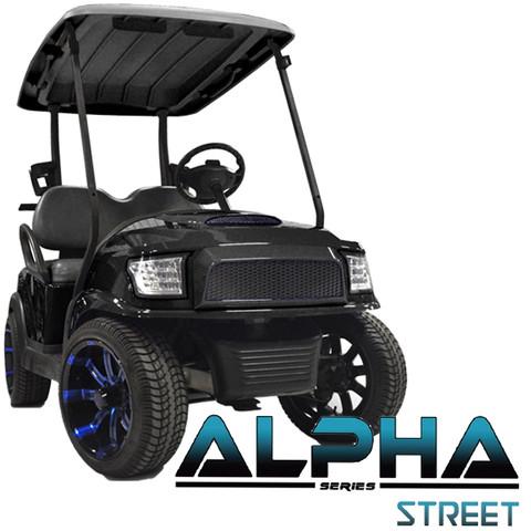 Club Car Precedent MadJax ALPHA Street Front Cowl w/ Fascia & Headlights - BLACK